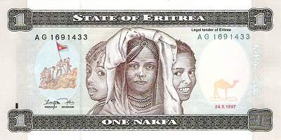 African Currency Postcards