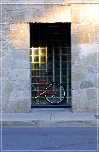 Bike in Doorway by Dan Florio