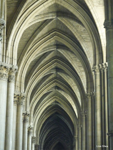 Cathedral Details, Reims France by Lisa Shea