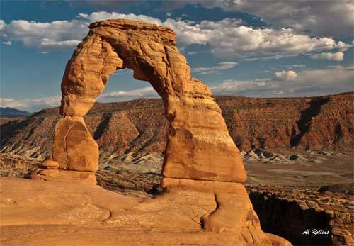 Delicate Arch by Albert Rollins