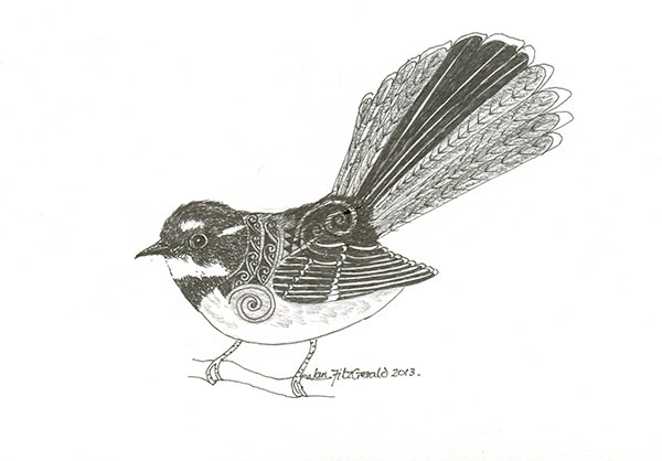 Fantail Winter 2013 by Jan FitzGerald