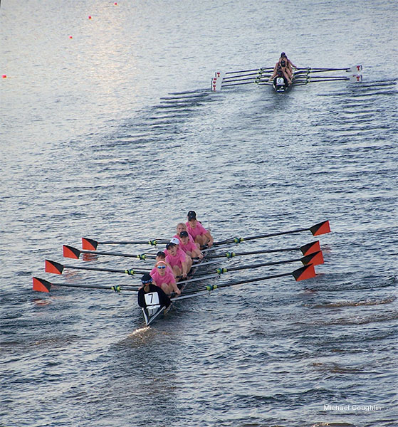 Princeton and MIT Women�s Eights by Michael Coughlin