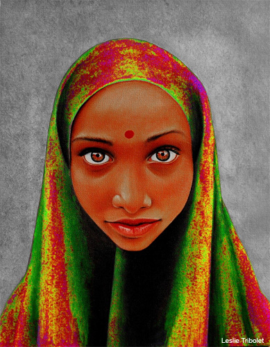 Indian Colorful by Leslie Tribolet