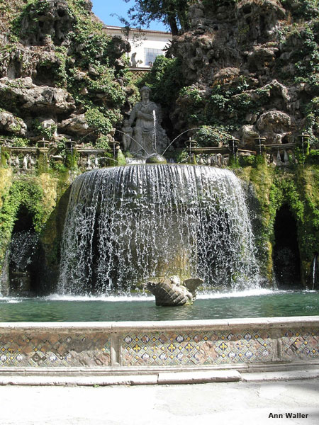Tivoli Italy Waterfall Fountain by Ann Waller