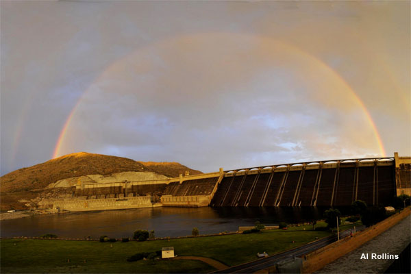 Rainbow Grand Coulee Dam by Al Rollins
