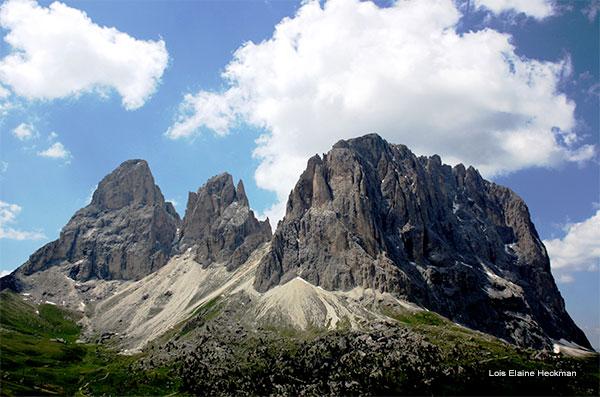 Sassolongo Mountain Group, Italian Dolomites by Lois Elaine Heckman