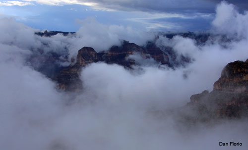 Canyon and Clouds by Dan Florio