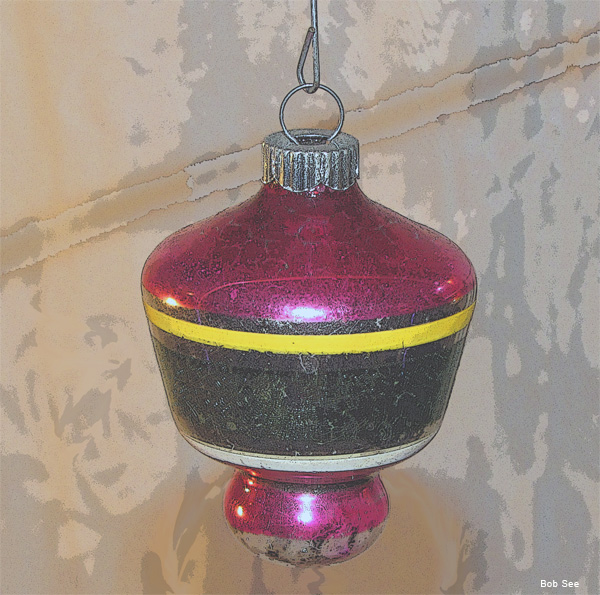1930s Red Christmas Ornament by Bob See
