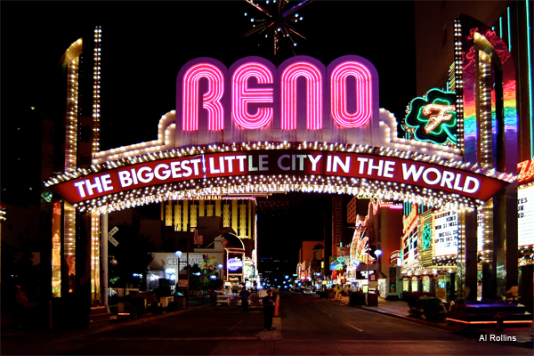 Night Lights Reno NV by Al Rollins