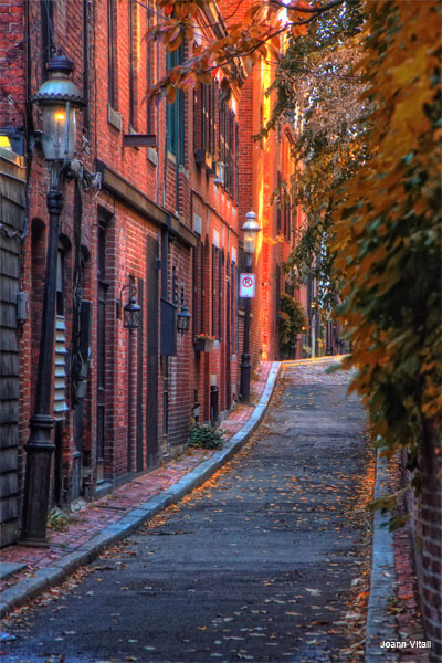 Sunset in Beacon Hill by Joann Vitali