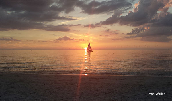 Nokomis Sunset by Ann Waller