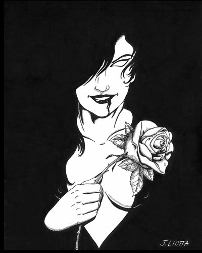 Goth with Rose by Joe Liotta