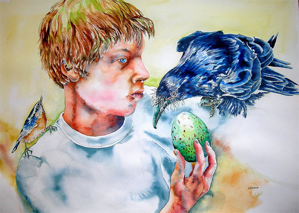 Nathan, The Raven, and Its Egg by Molly LeGreve-Karjala