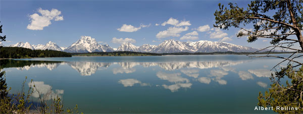 Grand Tetons Panoramic by Al Rollins