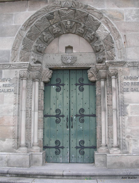 Medieval Church Doors by Ann Waller