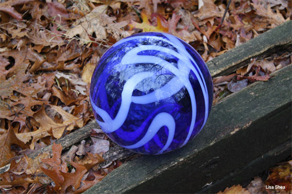 Gazing Ball by Lisa Shea