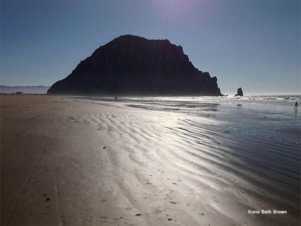 Morro Rock, Afternoon by Korie Beth Brown